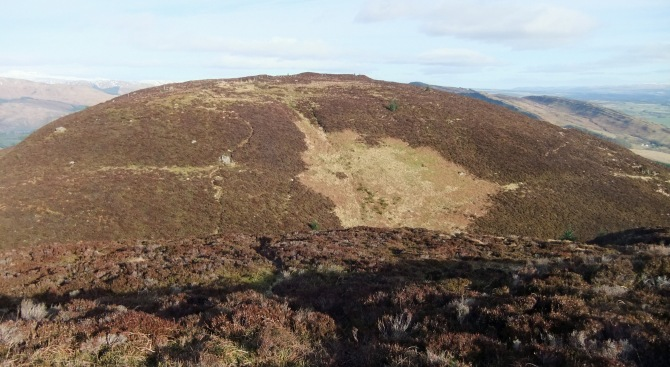 The view from the first bump to the summit of Craig of Monievreckie