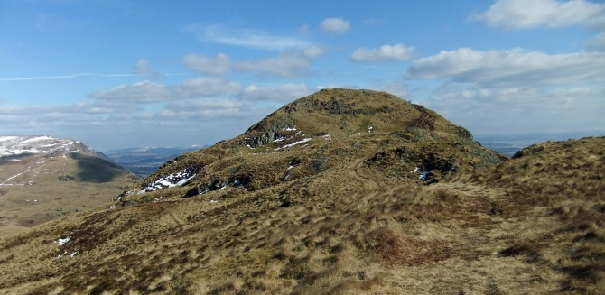 "My ""let's avoid the ascending hordes""  alternative route gives a not often seen perspective on the Dumyat summit"
