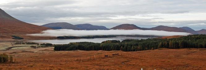 Low cloud over Loch Tulla near Rannoch Moor (October 07)