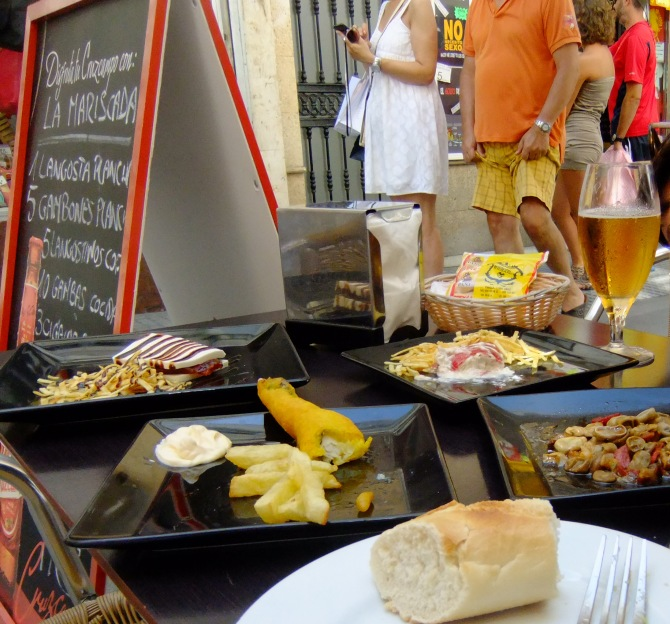 Cadiz - Once raided by Francis Drake...now raided by hungry tapas seekers.