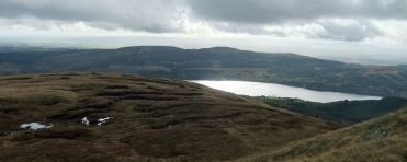 Well...we still have a view south east as we turn onto the ridge proper. The clouds over Loch Venachar are looking too dark for my liking.