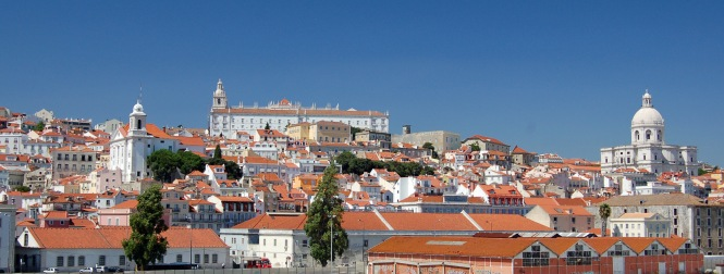 Well we've arrived and that's the Alfama district...we're now in Portugal...so it's fish for lunch!