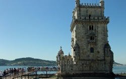 The Belem Tower and the Sunday queue.
