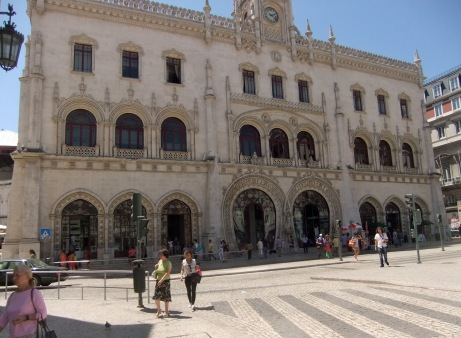 The Rossio railway station