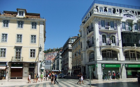 The Baixa from Rossio Square
